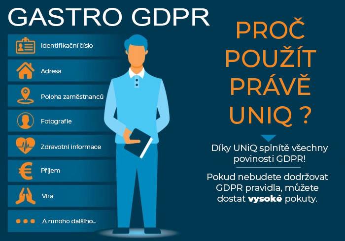 Gastro GDPR - pro použít právě UNiQ?